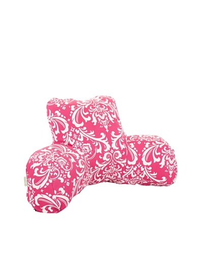 Majestic Home Goods French Quarter Bean Bag Chair Lounger, Hot Pink/White