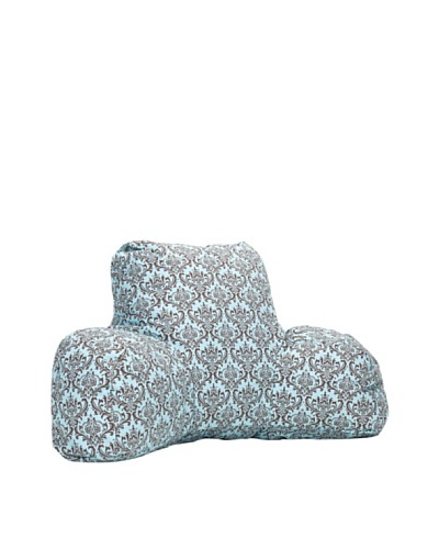 Majestic Home Goods French Maddie Reading Pillow, Soft Blue/Brown
