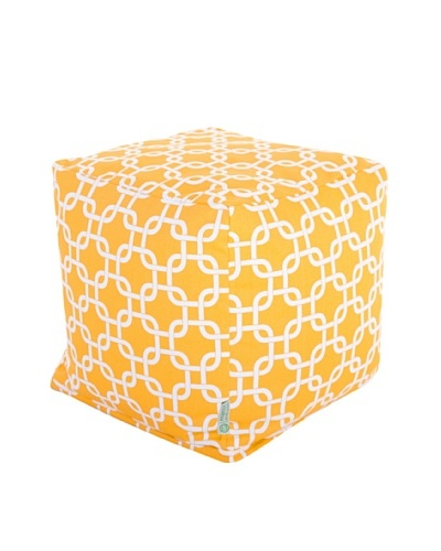 Majestic Home Goods Links Small Cube, Yellow