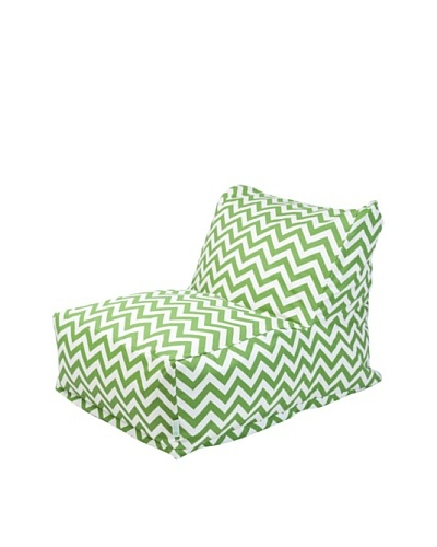 Majestic Home Goods Chevron Bean Bag Chair Lounger, Sage