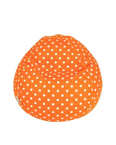 Majestic Home Goods Small Polka Dot Small Bean Bag, Tangerine