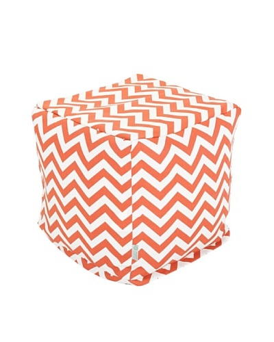 Majestic Home Goods Chevron Small Cube, Burnt OrangeAs You See