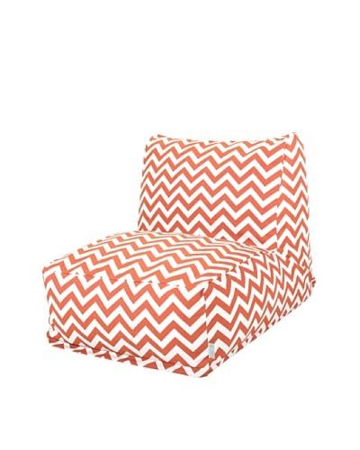 Majestic Home Goods Chevron Bean Bag Chair Lounger, Burnt OrangeAs You See