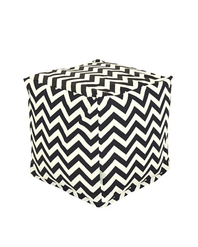Majestic Home Goods Chevron Small Cube, BlackAs You See