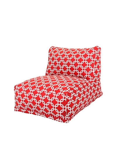 Majestic Home Goods Links Bean Bag Chair Lounger, Red