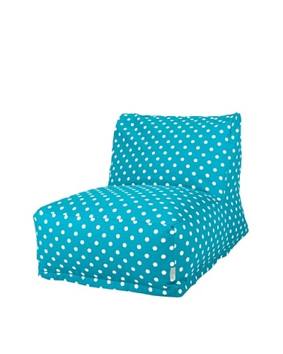 Majestic Home Goods Small Polka Dot Bean Bag Chair Lounger, OceanAs You See