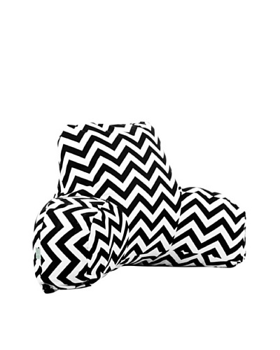Majestic Home Goods Chevron Reading Pillow, BlackAs You See