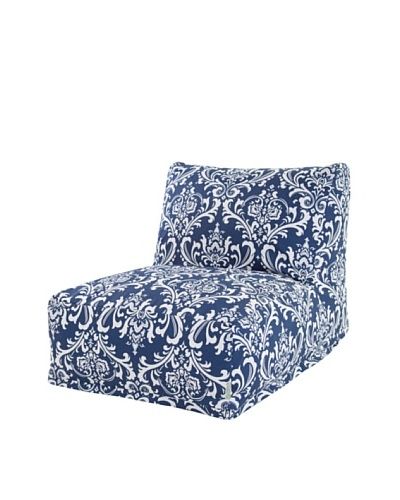 Majestic Home Goods French Quarter Bean Bag Chair Lounger, Navy