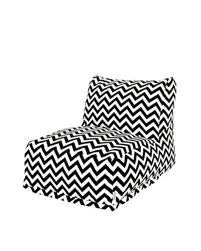 Majestic Home Goods Chevron Bean Bag Chair Lounger, Black