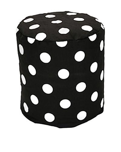 Majestic Home Goods Large Polka Dot Pouf, Black