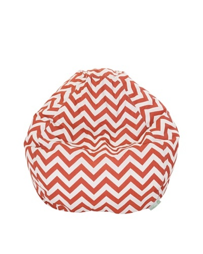 Majestic Home Goods Chevron Small Bean Bag, Burnt OrangeAs You See