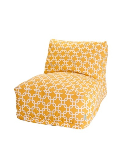Majestic Home Goods Links Bean Bag Chair Lounger, Yellow