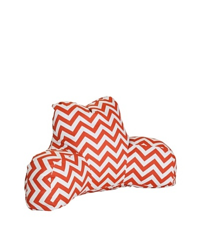 Majestic Home Goods Chevron Reading Pillow, Burnt Orange