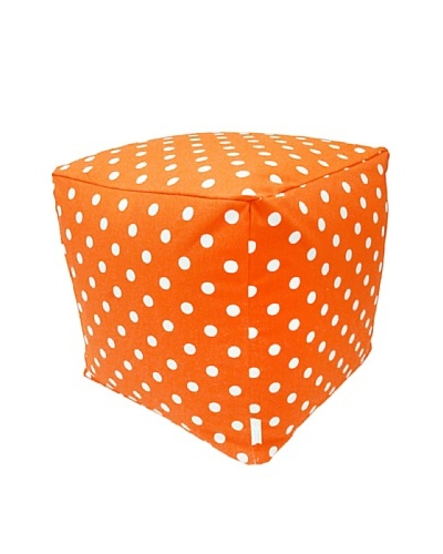 Majestic Home Goods Small Polka Dot Small Cube, Tangerine