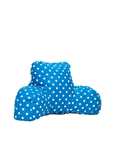 Majestic Home Goods Small Polka Dot Reading Pillow, OceanAs You See