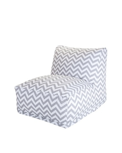 Majestic Home Goods Chevron Bean Bag Chair Lounger, Gray