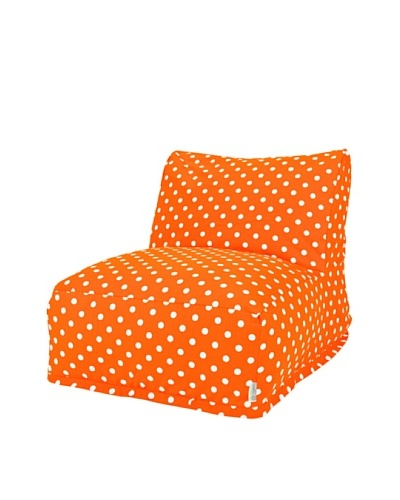 Majestic Home Goods Small Polka Dot Bean Bag Chair Lounger, TangerineAs You See