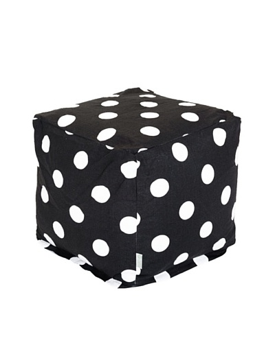 Majestic Home Goods Large Polka Dot Small Cube, BlackAs You See