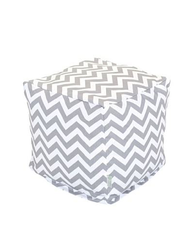 Majestic Home Goods Chevron Small Cube, Gray