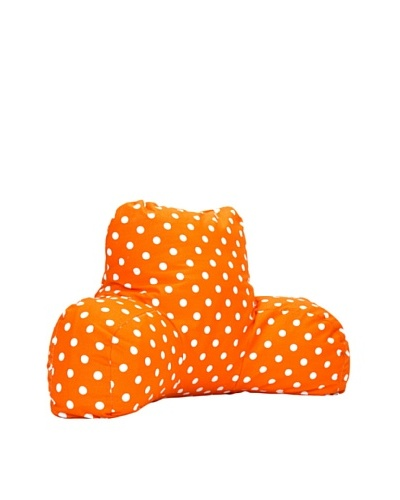Majestic Home Goods Small Polka Dot Reading Pillow, TangerineAs You See