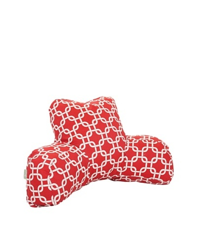 Majestic Home Goods Links Reading Pillow, Red