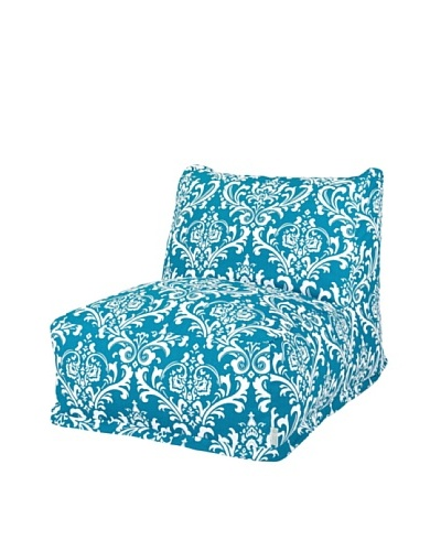 Majestic Home Goods French Quarter Bean Bag Chair Lounger, OceanAs You See