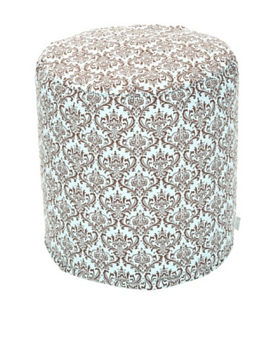 Majestic Home Goods French Maddie Small Pouf, Soft Blue/Brown