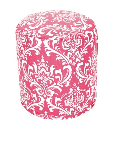 Majestic Home Goods French Quarter Small Pouf, Hot Pink/WhiteAs You See