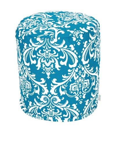 Majestic Home Goods French Quarter Small Pouf, OceanAs You See