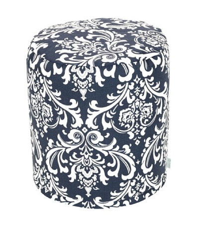 Majestic Home Goods French Quarter Small Pouf, Navy