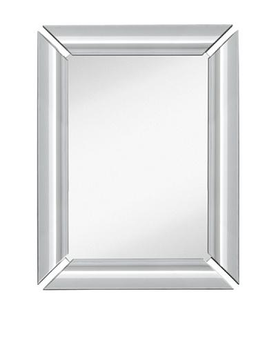 "Majestic Mirrors Radiant Mirror, Silver, 40"" x 30"""