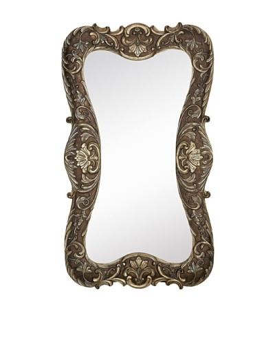 Majestic Mirrors Shaped Mirror, Antique Silver, 70 x 40