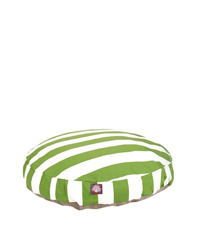 Majestic Pet Vertical Stripe Round Pet Bed, Medium, Sage