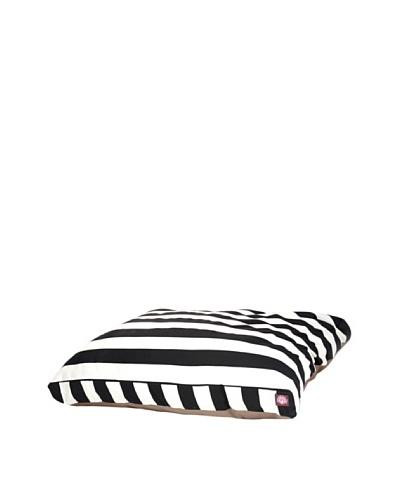 Majestic Pet Vertical Stripe Rectangular Pet Bed, Large, Black