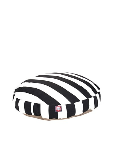 Majestic Pet Vertical Stripe Round Pet Bed, Medium, BlackAs You See