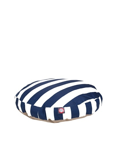 Majestic Pet Vertical Stripe Round Pet Bed, Medium, Navy BlueAs You See