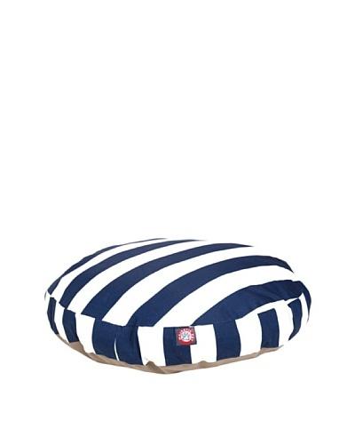 Majestic Pet Vertical Stripe Round Pet Bed, Medium, Navy Blue