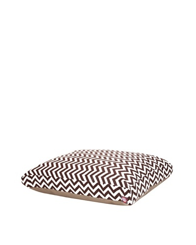 Majestic Pet Zig Zag Rectangular Pet Bed, Large, ChocolateAs You See