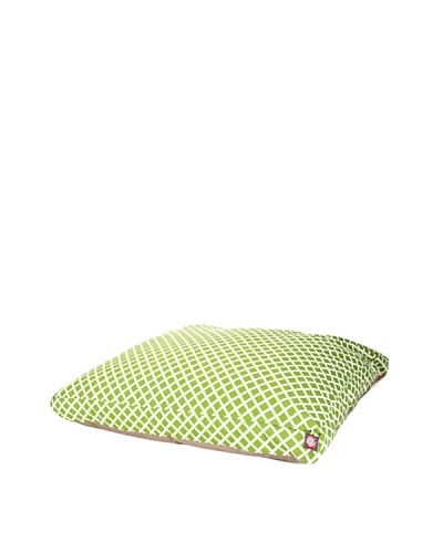 Majestic Pet Bamboo Print Rectangular Pet Bed, Large, Sage