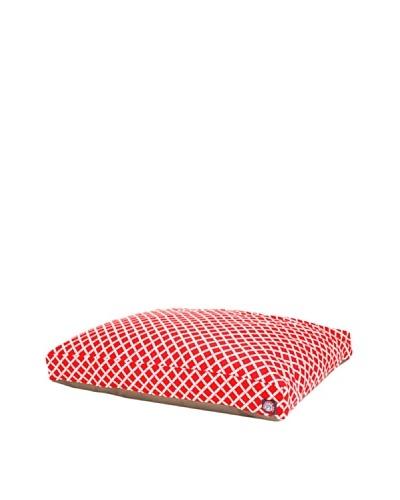 Majestic Pet Bamboo Print Rectangular Pet Bed, Large, RedAs You See