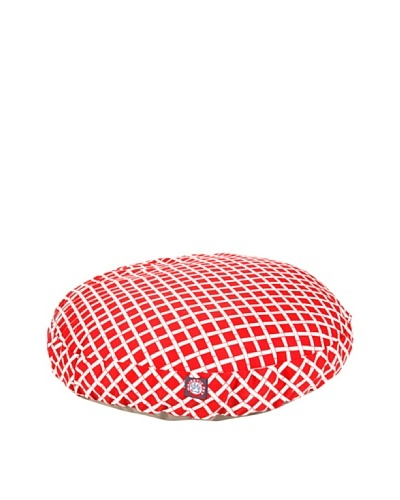 Majestic Pet Bamboo Print Round Pet Bed, Medium, Red