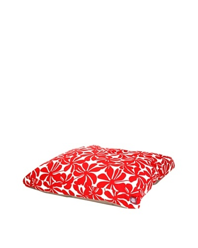 Majestic Pet Plantation Rectangular Pet Bed, Large, RedAs You See