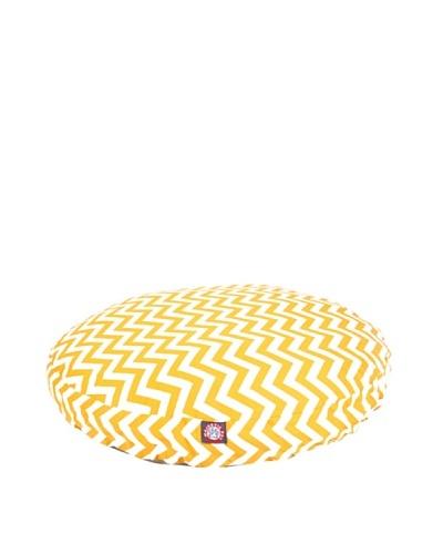 Majestic Pet Zig Zag Round Pet Bed, Medium, YellowAs You See