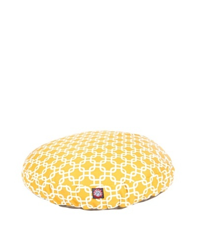 Majestic Pet Links Round Pet Bed, Medium, YellowAs You See