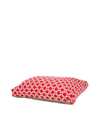 Majestic Pet Links Rectangular Pet Bed, Large, RedAs You See