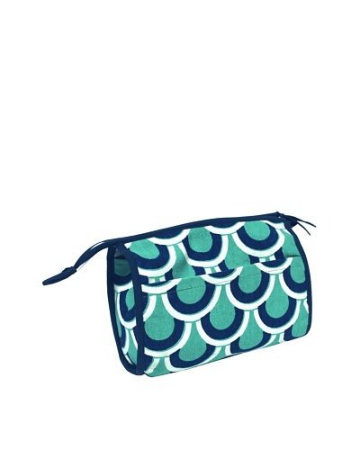 Malabar Bay Scalloped Arches Cosmetic Bag, Green