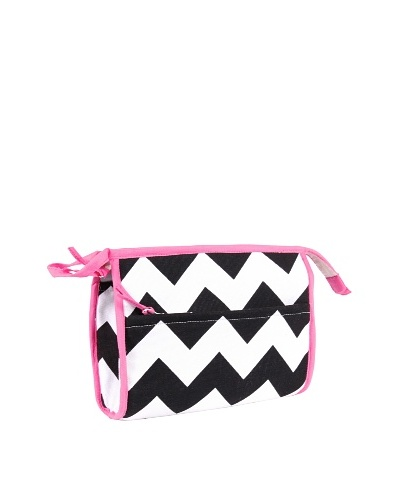 Malabar Bay Chevron Black Cosmetic Bag, Black