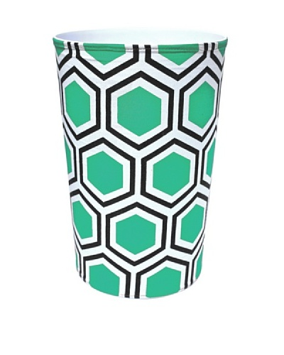 Malabar Bay Roma Canvas Wastebasket, Green