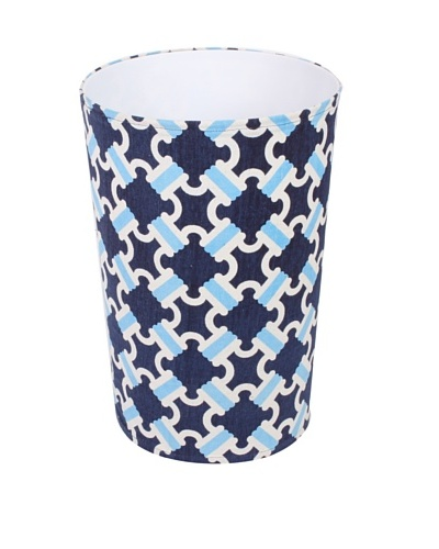 Malabar Bay Catalina Canvas Wastebasket, Navy