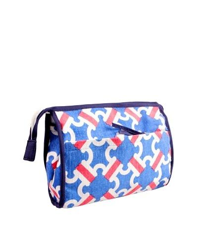 Malabar Bay Catalina Cosmetic Bag, Pink/Blue